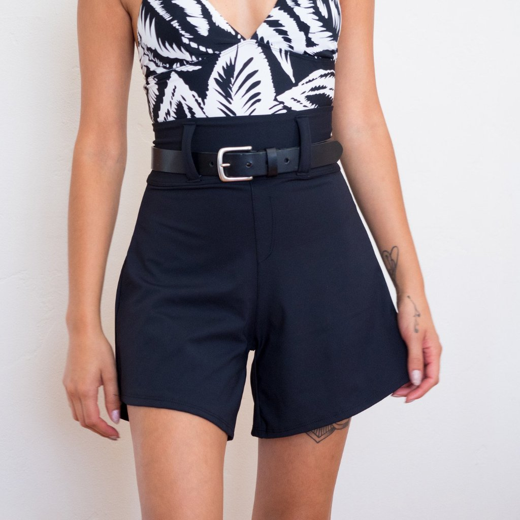 Lynt High Waisted Shorts in Black