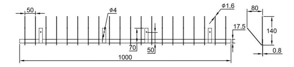 Gutter Bird Spike Specifications