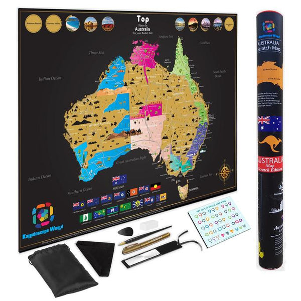 Australia or World Scratch Map