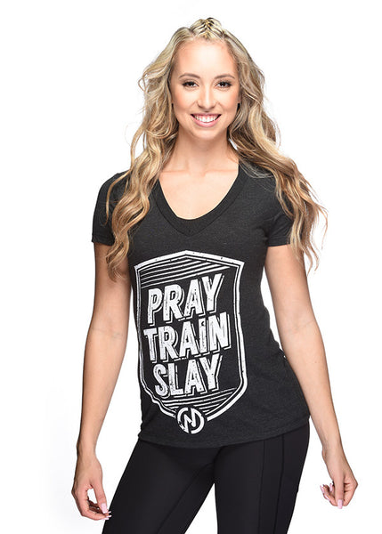 Pray Train Slay (Deep V Neck)