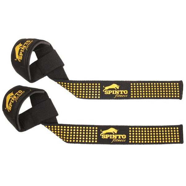 Spinto-24 Padded Lifting Straps with Silicone