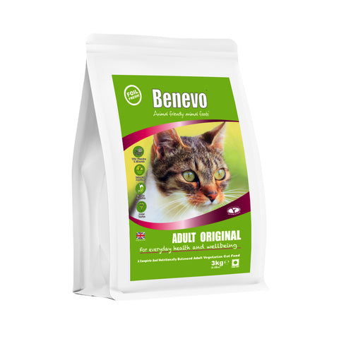 Benevo Vegan Adult Cat Food 3Kg (Temporary Pack)