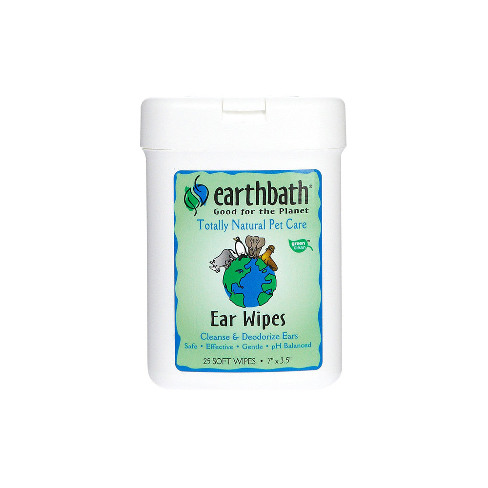 Earthbath Ear Wipes 25 Pcs