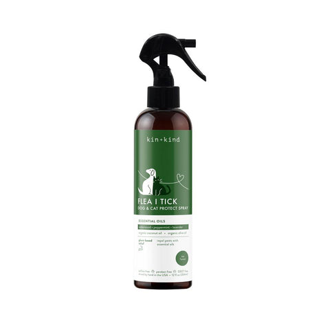 Kin+kind Flea/Tick Protect Spray for Cats & Dogs 354ml