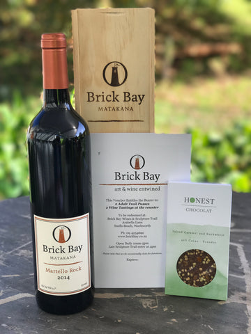 Gift Box - Brick Bay Martello Rock, Honest Chocolat + Voucher