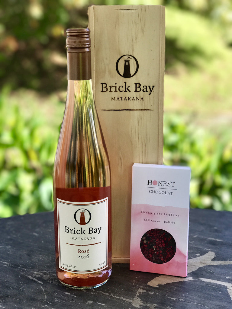 Gift Box - Brick Bay Rosé + Honest Chocolat