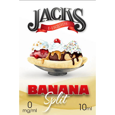 Banana Split E-Liquid by JACKS | 10ml, E-Liquid, JACKS - eVapeLiquidShop.com