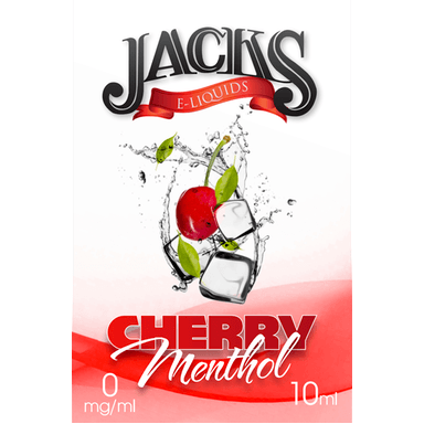 Cherry Menthol E-Liquid by JACKS | 10ml, E-Liquid, JACKS - eVapeLiquidShop.com
