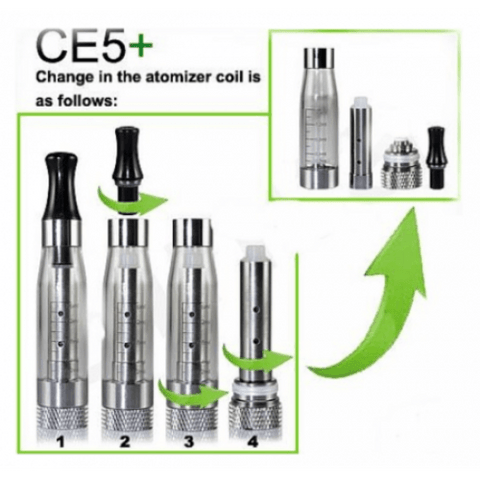 CE5+ CLEAROMISER, Tanks and Clearomisers, CE5 - eVapeLiquidShop.com