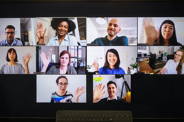 Integrating a new team member in a video call