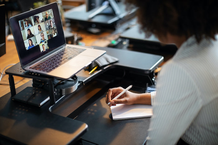 business communication in a video call
