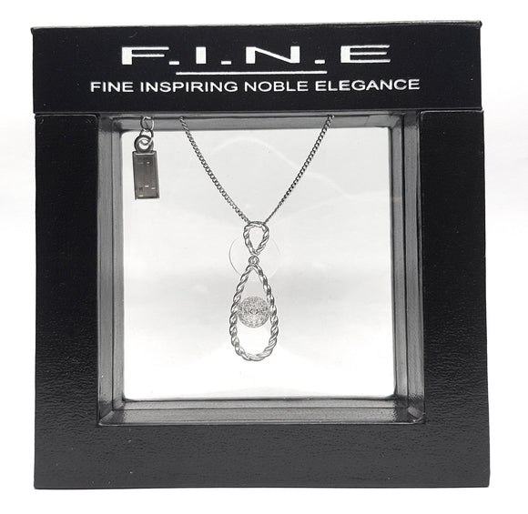 925 Sterling Silver Pendant with Cubic Zirconia for Extra Occasions, F.I.N.E Hope
