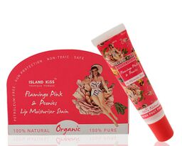 Flamingo Pink Peonies Organic Lip Balm & Stain with SPF 15 100% Natural, 14 Ml