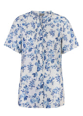 Cassie Floral Shirt, Rose Blue