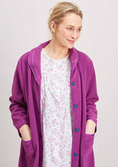 Diana Velcro Robe | Plum Purple | The Able Label