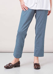 Flavia Pull On Elasticated Waist Trousers - Marl Blue