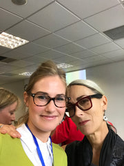 Caryn Franklin and Katie Ellis
