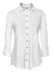 Imogen Jersey Shirt - True White