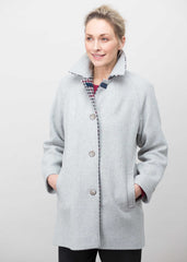 Marilyn Wool Blend Coat - Light Grey