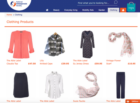 National Osteoporosis Shop - The Able Label Clothing
