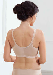 Front Fastening Silver Post Surgery Velcro Bra