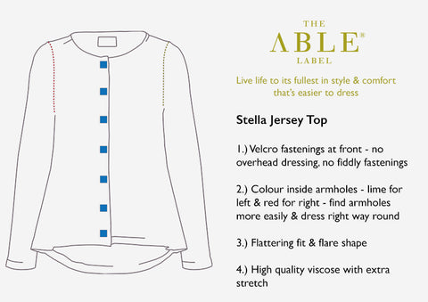 Stella Top - Easier dressing explained in a diagram