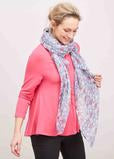 Long sleeve pink jersey top with pretty blue and pink heart scarf