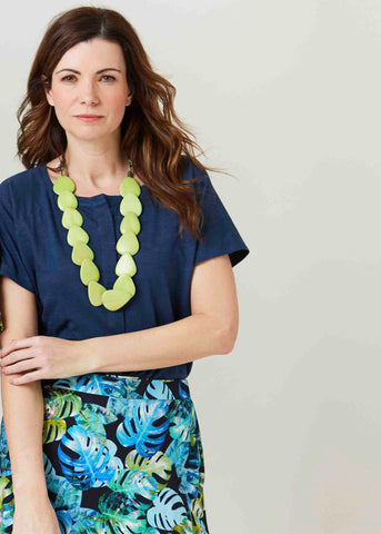 Statement necklace in lime | The Able Label