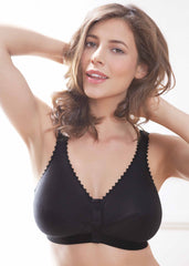 1010 and 1020 Front Fastening Bra | Black | The Able Label