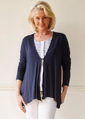 Molly Cardigan - Shibori Navy