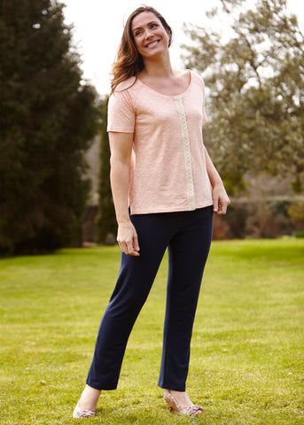 Frankie trouser with tabatha tee coral