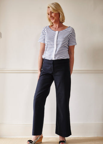 Flora wide leg trouser with tabatha tee