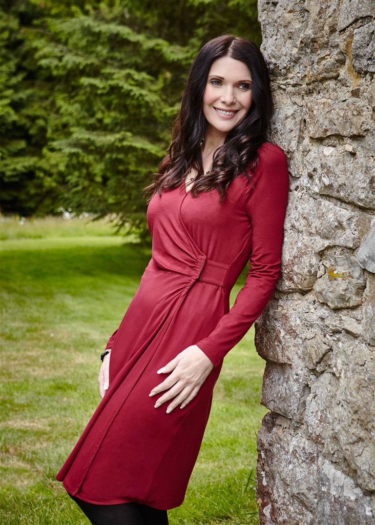 Su Jersey Wrap Dress - Dragon Red