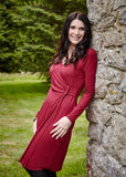 Su Jersey Long Sleeve Velcro Wrap Dress - Dragon Red: VAT Exempt