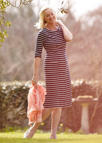 Sophie Jersey Dress - Navy Stripe