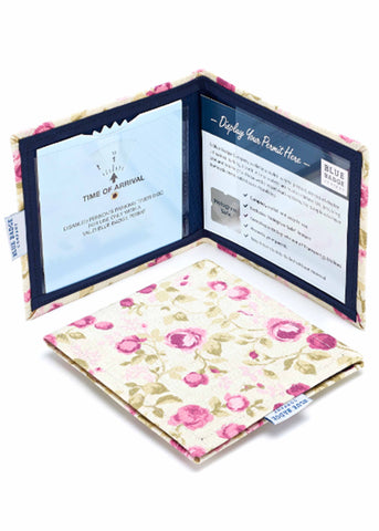 Permit Cover by Blue Badge Company - Mulberry Print