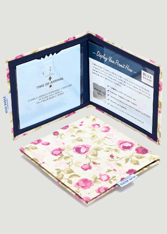 Permit Cover by Blue Badge Company - Mulberry Print: VAT Exempt