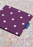 Permit Cover by Blue Badge Company - Spotty Grape: VAT Exempt
