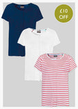 3 Pack Short Sleeve Velcro Tees - Multi
