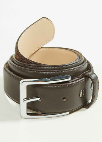 Able Leather Velcro Belt - Brown
