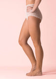 Absorbent Full Brief Lace Knickers - Beige