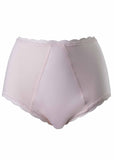 Absorbent Full Brief Plain Bamboo Knickers - Beige