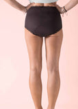 Absorbent Full Brief Plain Bamboo Knickers - Black: VAT Exempt