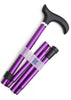 Adjustable Folding Walking Stick Gift Set - Mulberry