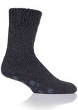 Alan Non-Slip Slipper Socks - Charcoal