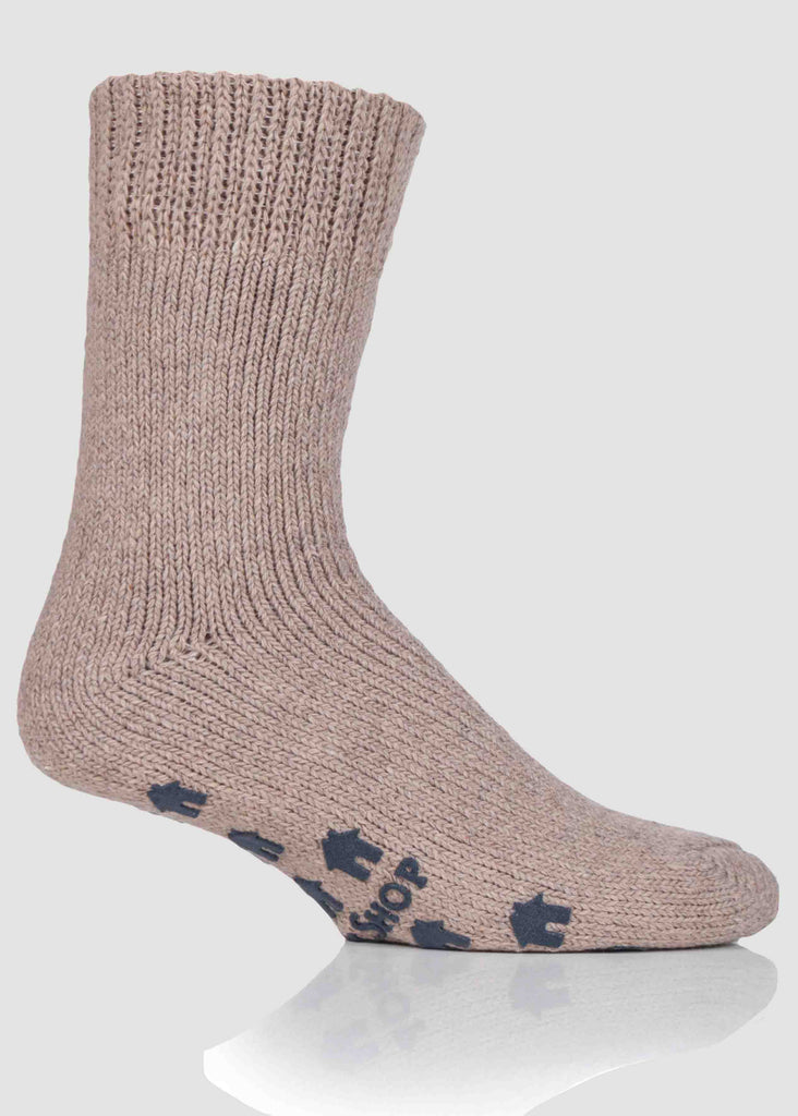 Alan Non-Slip Slipper Socks - Oatmeal