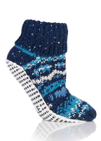 Amanda Non-Slip Slipper Socks - Midnight