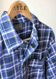 2 Pack Men's Nightshirt Bundle - Blue Check: VAT Exempt