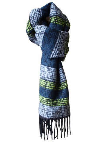 Aurora Knitted Scarf - Golden Lime