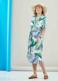 Bea Short Sleeve Woven Velcro Shirt Dress - Botanic Print